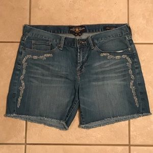 Lucky Brand Abbey Embroidered Cutoff Shorts